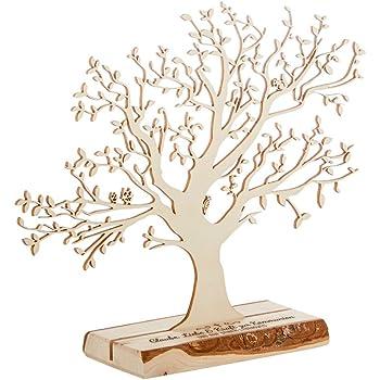 Amazon De Casa Vivente Geldbaum Aus Holz Mit Gravur Glaube