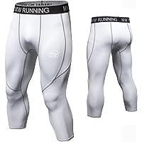 MEETWEE Leggins Uomo, Pantaloni Running Calzamaglia con 2 Tasche Laterali Compressione Tights Sportivo Calzamaglie for…