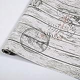 Jedfild autoadhesivo papel tapiz de madera veteada de albergues estudiantiles renovado mobiliario de pared adhesivo tabla Puertas de armarios de pared de PVC Papel N