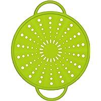 Emsa SMART KITCHEN Couvercle anti projections, passoire, en silicone 21cm vert