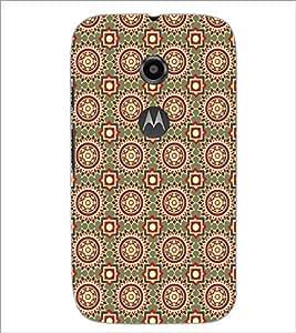 PrintDhaba Pattern D-5458 Back Case Cover for MOTOROLA MOTO E2 (Multi-Coloured)
