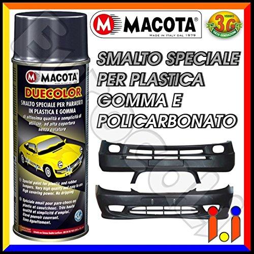 Macota Duecolor-Bote de pintura de aerosol de plástico y caucho de textura en relieve, color negro