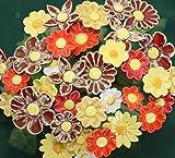 ROWE Deko Blumenset 20 Keramikblumen Sommer