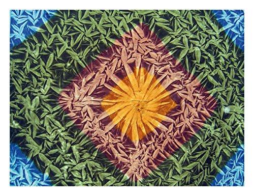 Bett & Sofaüberwurf Wandteppich 200 x 240 Tagesdecke Indisch optisches Muster - Indische Muster Hanf
