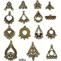 89a5a62313d7 LolliBeads (TM) - Colgante de plata tibetana envejecida para pendientes