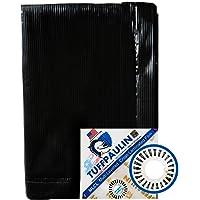 TUFFPAULIN 6FT X 6FT 120 GSM Black Tarpaulin Tirpal Tadpatri Tharpai Thadika, Extra Strong, Reinforced Eyelets, UV…