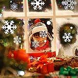 Fensterbilder für Weihnachten, Schneemann Schneeflocken Fenstersticker Fensterbild Abnehmbare Fensterdeko Statisch Haftende PVC Aufkleber Wanddeko Weihnachtsdeko Dekoration