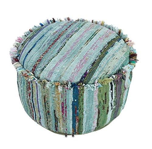 Baumwolle Runde Osmanischen (JTH Vintage indische Baumwolle ohne Filler New Style rund Pouf osmanischen Cover (jth-m-69))