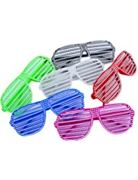 Die Original BUNTE NERD® Club Strass Look Brille 100% Original Shades Set 5 S...