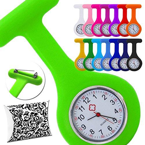 tumundo-Schwestern-Uhr-Puls-Anstecknadel-Geschenk-Box-Etui-Kittel-Brosche-Silikon-Hlle-Quarz-Krankenschwester-Pfleger-Uhr