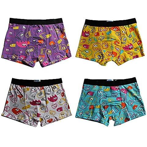 Boxer Garçon en Coton - Pesail Caleçons Shorts Slip Bio Pour Enfants - Taille 2 - 10 ans - Lot de 4/6/8 (2-4 ans, Lot de 4)