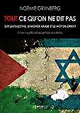 Tout ce qu'on ne dit pas sur la Palestine, le monde arabe et le Moyen-Orient: Entre mystifications et contrevérités (French Edition)