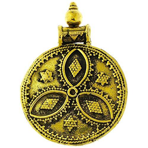 Chic-Net ciondolo in ottone mandorle cerchio tre diamanti stella antichi catena d'oro gioielli in ottone nichel libero