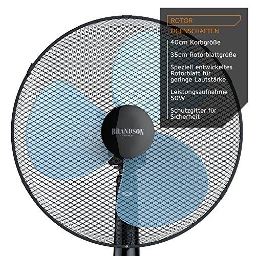 Brandson – Standventilator 40cm / schwarz - 3