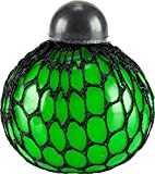 Loomiloo Anti-Stress Ball Spielzeug Quetschball Mesh Netz Squeezeball Kinder Control Spiel Traubenball Streß Hilfe 1 Stück Grün