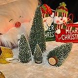 Mini Alberi di Natale da Tavolo con Neve Artificiale Albero di Natale Pino Tavolo Decorazioni per Natale