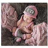 Fashion recién nacido niño niña bebé disfraz fotografía accesorios bomberos sombrero de pantalones