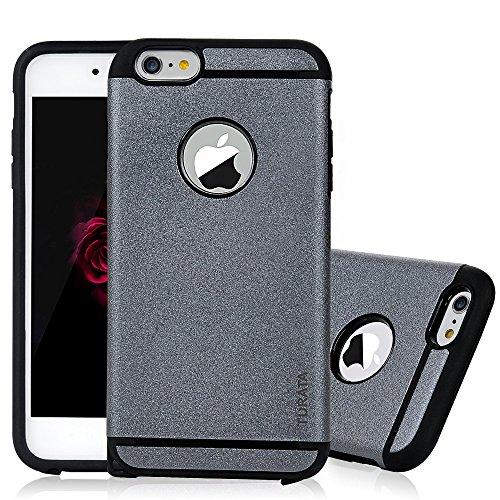 iPhone6/6S Case – TURATA Doppelschicht Luftkissen Hartplastik TPU Grau Schutzhülle Bumper Outdoor Sport Handyhülle für Apple iPhone6/6S 4.7 Zoll Iphone 6 Hello Kitty Case Bling