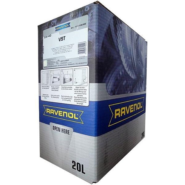 20 Liter Ravenol Vollsynth Turbo Vst Sae 5w 40 Bag In Box Motoröl Auto