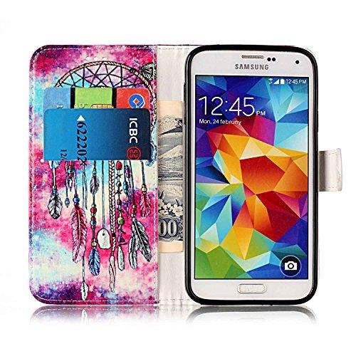 Cover per Samsung Galaxy S5 / S5 Neo Ultra Slim ,Custodia per Samsung Galaxy S5 / S5 Neo,Sunroyal Marmo Flip Libro Stand Case Cover in PU pelle Borsa e Portafoglio Wallet TPU Silicon Gel Protezione Ch Modello 05