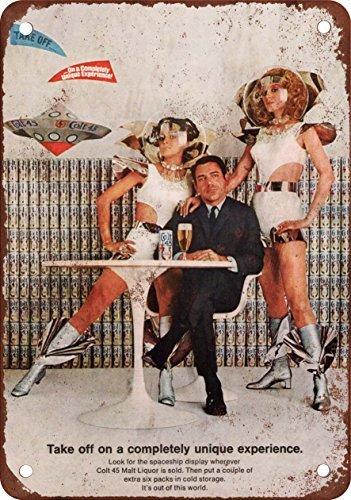 1969-colt-45-licor-de-malta-y-el-espacio-exterior-aspecto-vintage-reproduccion-metal-tin-sign-8-x-12