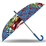 SRV Hub® Kids Transparent Stick Umbrella, Umbrella for Boys and Girls POE Brolly for Unisex 3 + Years with Painted…