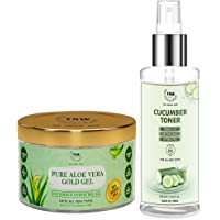 TNW-The Natural Wash Combo of Pure Aloe Vera Gold Gel & Cucumber Toner   Gel For Acne,Scars,Sunburn Treatment Prevents…