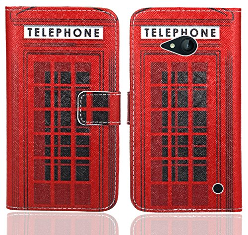 Nokia Lumia 735 730 Handy Tasche, FoneExpert® Wallet Case Flip Cover Hüllen Etui Ledertasche Lederhülle Premium Schutzhülle für Nokia Lumia 735 730 (Pattern 12)