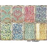 Paper Moon - Papel Scrapbooking Calidad x 8 hojas de 7 cm x 10.5 cm - Wallpaper