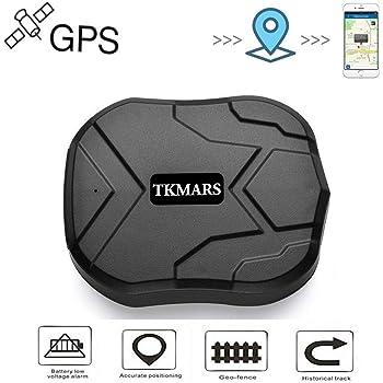 TKMARS GPS Tracker GPS per Auto Localizzazione Monitoraggio in tempo reale Magnete Potente Posizionamento preciso 5M e 90 giorni Standby Impermeabile(TK905)