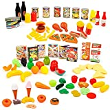 mamatoy mma08000-Set d'aliments, ensemble de repas avec 100aliments assortis