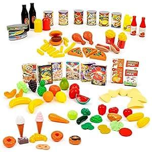 Mamatoy mma08000 funnytoy tutti a tavola set 100 for Accessori cucina giocattolo
