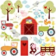 RoomMates Repositionable Childrens Wall Stickers Happi Barnyard