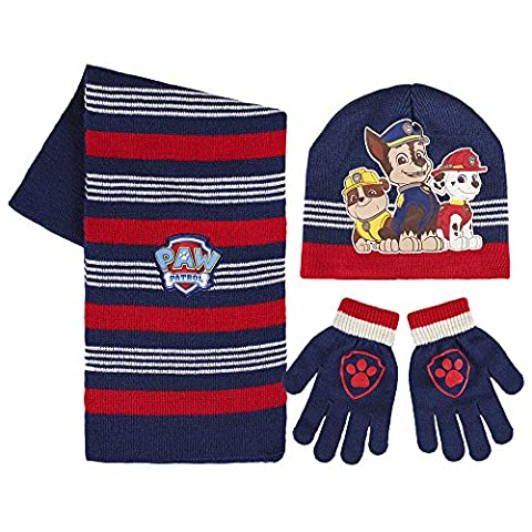 Paw Patrol 2200001576 Chase/Rubble and Marshall Childrens Winter Set includes Beanie Hat/Gloves and Scarf (One (Cappello Di Inverno Guanti)