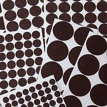 brackit almohadillas de fieltro Jumbo Surtido Pack   270Pc Antideslizante hoja de círculos & 240cm de fieltro muebles almohadillas de fieltro para suelos de madera, topes para puerta de armario, silla patas, pianos y otros muebles para el hogar