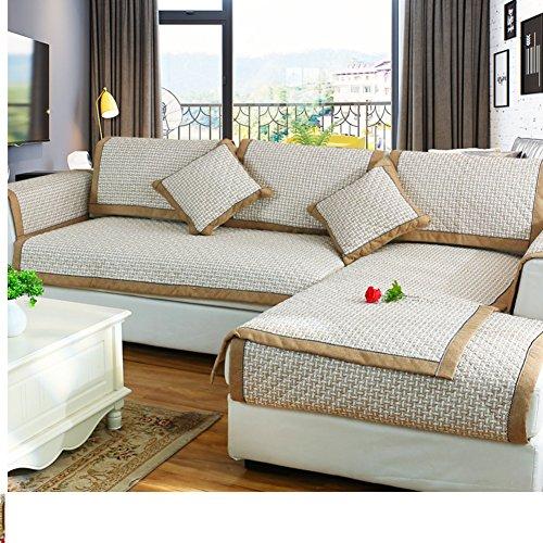 DW&HX Reine farbe Sofa möbel beschützer für hund kinder,Sofabezug Baumwolle und leinen Volltonfarbe Verdicken sie Sofa werfen abdeckungen Anti-rutsch Stilvoll -A 28x83inch(70x210cm)