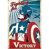 Poster Affiche Captain America Avengers Vintage Super Hero