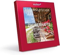 mydays Hotel-Gutschein ZAUBERHAFTE UNTERKÜNFTE   1 Übernachtung inklusive Frühstück für 2 Personen   über 80 Hotels   Geschenkidee zum Geburtstag   Inklusive Geschenkbox