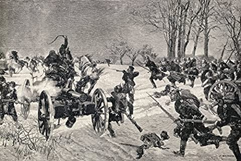 Ken Welsh / Design Pics – The Battle Of Le Mans 10 - 12 January 1871. Prussian Victory During The Franco-Prussian War. From Die Gartenlaube Published 1905. Photo Print (91.44 x 60.96 cm)