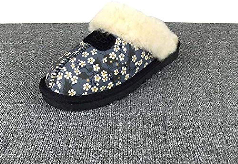 Oudan Winter Ladies House Classic Twin Twin Twin Face Pantofole in Pelle di Pecora Chestnut Warm Fur scarpe (Coloreee   Nero... | Usato in durabilità  | Scolaro/Signora Scarpa  18acad