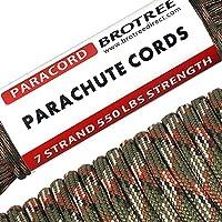 Brotree Paracorde 550 Corde Parachute 7 Brins en Nylon Corde de Survie Type III Spécification Militaire (Standard, Réfléchissante)