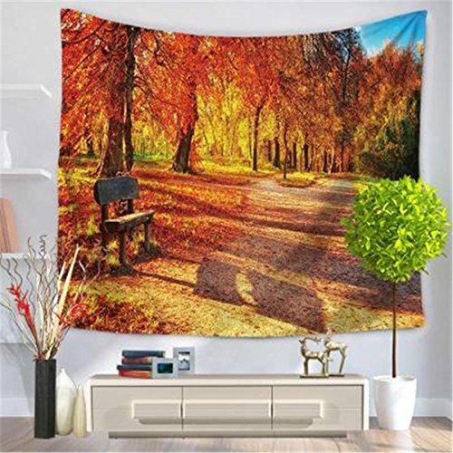 Preisvergleich Produktbild XGHC Kreative Tapisserie,  Herbstlaub Landschaft Muster Tapisserie,  Haus Tapisserie Wand hngen,  Strand Handtuch Decke ,  H ,  200*150