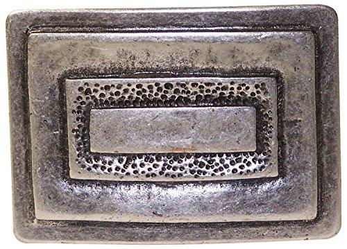 Fronhofer Gürtelschnalle in altsilber, Schnalle verziert, Damen, 4 cm Wechselgürtel, Buckle silber, 18204, Farbe:Silber, Größe:One Size