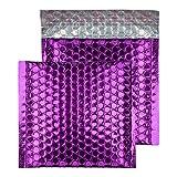 Purely Haftklebetaschen, CD-Format, 165 x 165 mm, haftklebend, Metallic, violett (Grape) 100 Stück