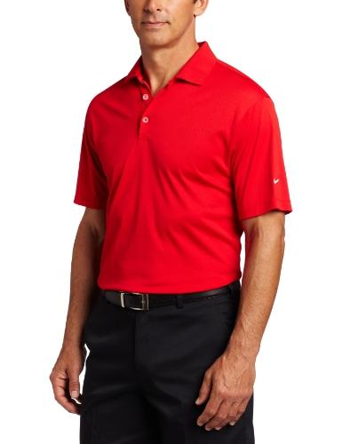 Solid Tech T-shirt (Nike Tech Solid Herren Männer Golfpoloshirt Logo Ärmel Universität Rot M)