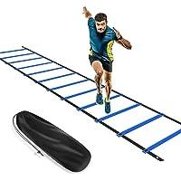 KIKILIVE - Scaletta per esercizi di coordinazione per calcio e allenamento, 6 m, colore: blu/giallo