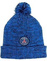 PSG - Bonnet PSG Officiel à Pompon - Couleur : Bleu