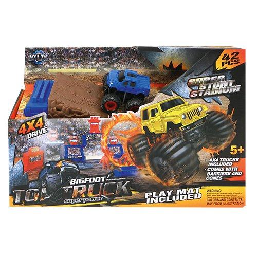 speelight goed s7504/kls500-89 - Kit Voiture, 42 pièces Super Stunt Stade