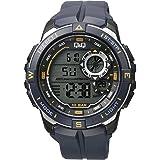 Q Q Digital White Dial Men's Watch M175J004Y