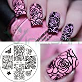 Backform Rose Flower Ausstecher Stempel Dekoration Dekorationen Nägel Nagel Nail Art